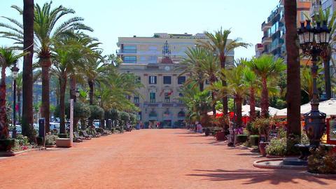 Lloret de Mar, Costa Brava in Spain Stock Video Footage
