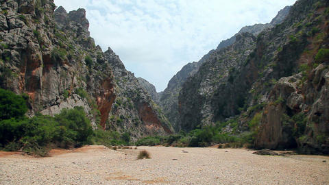 Mountains in Sa Calobra, Mallorca Majorca Island, Spain Stock Video Footage