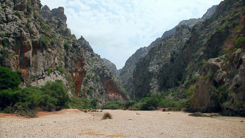 Mountains in Sa Calobra, Mallorca Majorca Island, Spain Footage