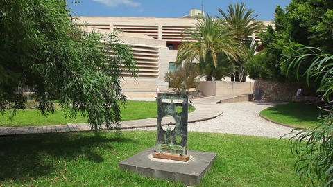Building Of Joan Miro Museum, Palma De Mallorca, Mallorca Island, Spain stock footage