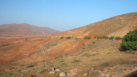 Mountains on Fuerteventura Island, Canary Islands, Spain Stock Video Footage