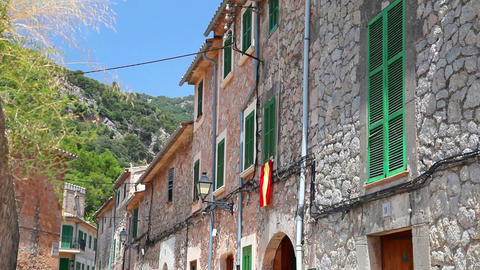 Valldemossa village, Mallorca Island, Balearic Islands,... Stock Video Footage