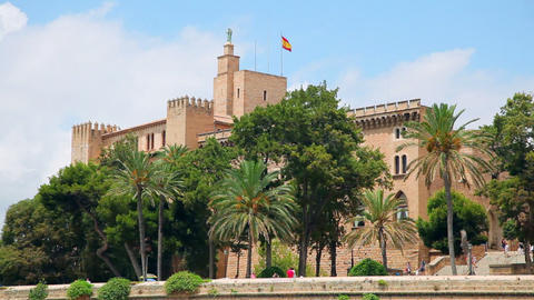 Royal Palace in Palma de Mallorca, Mallorca Island, Spain Footage