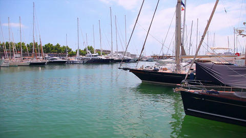 Yachts in port, Palma de Mallorca, Mallorca Island, Spain Footage