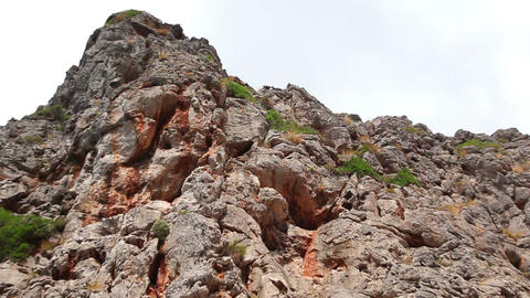 Wild goats in Sa Calobra, Mallorca Island, Spain Stock Video Footage