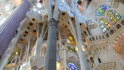 Sagrada Familia, Barcelona, Catalonia, Spain Stock Video Footage
