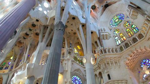 Sagrada Familia, Barcelona, Catalonia, Spain Stock Video Footage