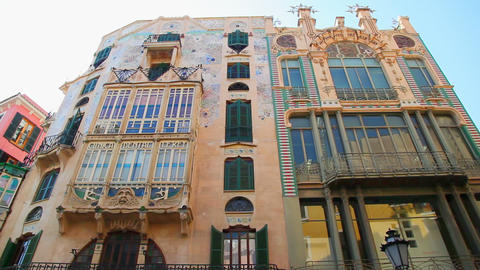 Old building in Palma de Mallorca, Mallorca Island, Spain Footage