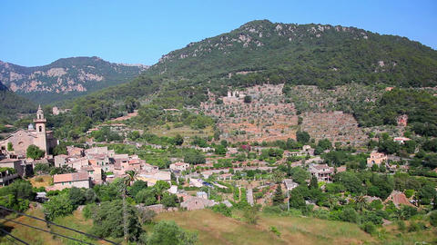Valldemossa village, Mallorca Island, Spain Footage