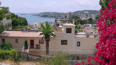 View on Cala Major, Mallorca Island, Spain Stock Video Footage