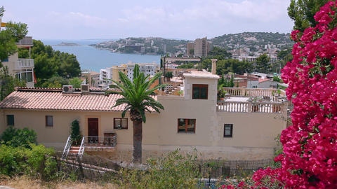 View on Cala Major, Mallorca Island, Spain Footage