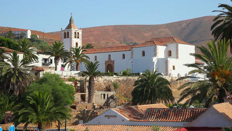 Old church in Betancuria, Fuerteventura Island, Spain Footage