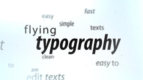 Flying Typography - After Effects Template After Effects Template