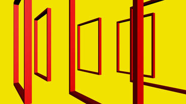 Rotation of 3D Matrix Frame container,door,windows,design,decoration,background,art,picture,space,ga Animation