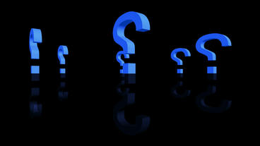 Rotation Of 3D Question Mark.isolated,mark,3d,illustration,abstract,problem,think,faq,answer stock footage