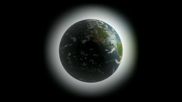 Rotation Of 3D Earth.planet,world,globe,continent,map,geography,ocean,sphere,blue,global,land,space stock footage