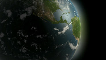 Rotation Of 3D Earth.planet,world,globe,continent,map,geography,ocean,sphere,blue,global,land,space, stock footage
