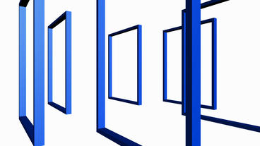 Rotation Of 3D Matrix Frame Container,door,windows,design,decoration,background,art,picture,space,ga stock footage