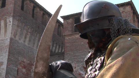 evil warrior 03 Stock Video Footage