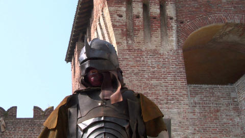 evil warrior 05 Stock Video Footage