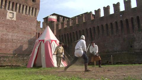 medieval sword duel 04 Footage