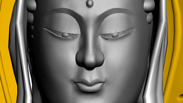 Moving of 3D Guanyin Buddha... Stock Video Footage