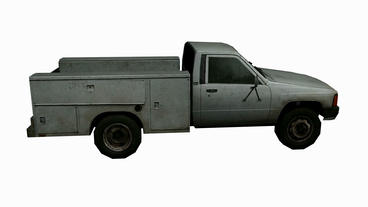 Rotation of 3D utility truck.automobile,shipping,transportation,freight,cargo,ve Animation