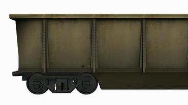 Moving of 3D train orecar.locomotive,railroad,train,transportation,travel,passen Animation
