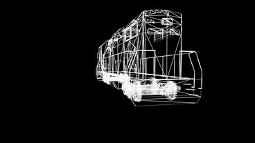 Rotation of 3D Train.locomotive,railroad,train,transportation,travel,passenger,G Animation