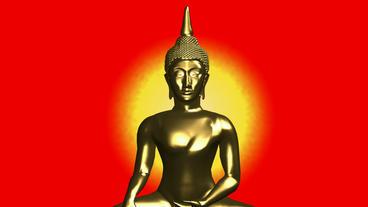 Moving of 3D buddha.buddhism,religion,asia,zen,statue,god,spiritual,sculpture,me Animation