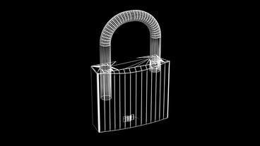 Rotation of 3D lock.security,padlock,safety,metal,safe,protection,steel,key,Grid Animation
