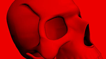 Rotation Of 3D Skull.bone,death,skeleton,illustration,design,dead stock footage