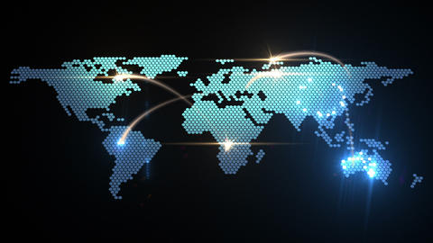 world map animation Stock Video Footage