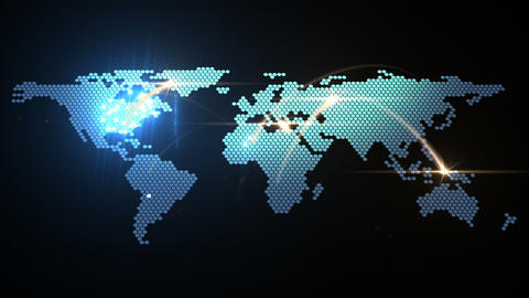 World Map Animation stock footage