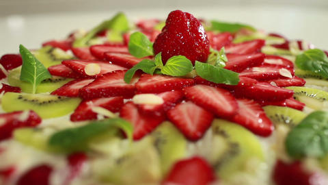strawberry dessert Stock Video Footage