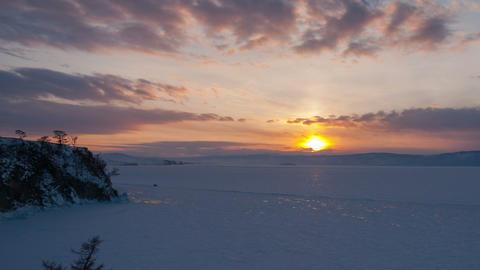 Winter sunset timelapse Footage