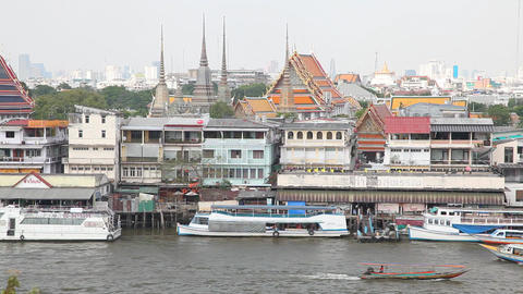 Chao phraya river Stock Video Footage