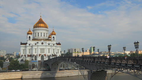Cathedral Christ Saviour timelapse , Moscow, Russia Stock Video Footage