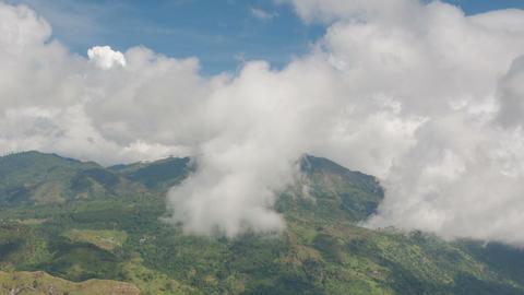 Mountain cloudscape Footage