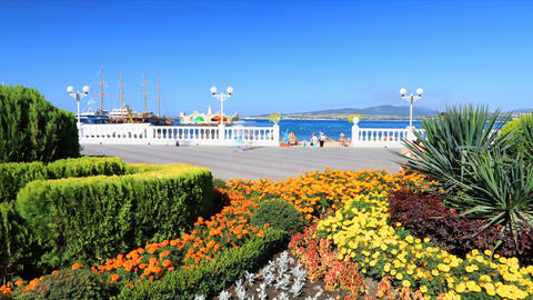 Gelendzhik city day timelapse, Russia Stock Video Footage
