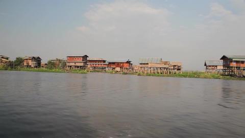 Boat on Inle lake , Myanmar Stock Video Footage