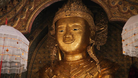 Buddha Inside Taung Tho Pagoda Footage