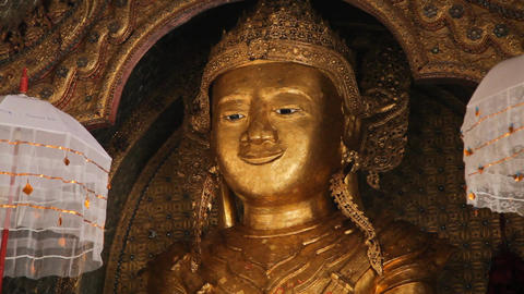 Buddha Inside Taung Tho Pagoda Stock Video Footage