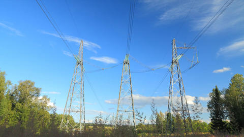 Power line communication timelapse Stock Video Footage