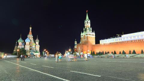 Kremlin night timelapse Footage