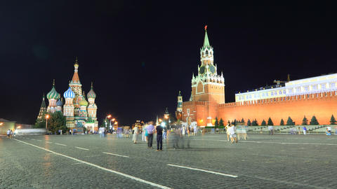Kremlin night timelapse Stock Video Footage