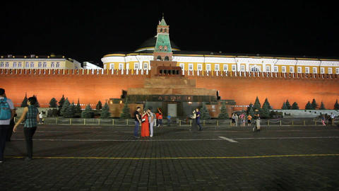 Red Square night Footage