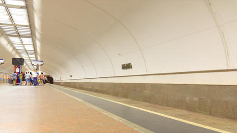 Subway timelapse Stock Video Footage