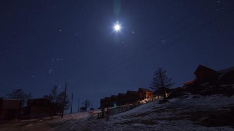 Winter night timelapse Footage