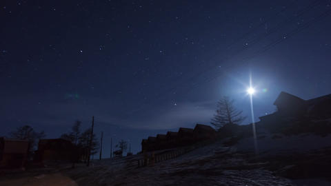 Winter night timelapse Stock Video Footage